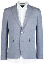 Burton Mens Blue Textured Jersey Blazer