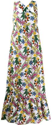 Borgo de Nor Mila floral print maxi dress