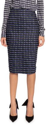 Victoria Beckham Houndstooth Jacquard Pencil Skirt