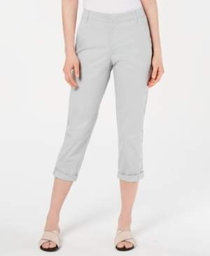 Style&Co. Style & Co Eyelet-Trim Capri Pants, Created for Macy's