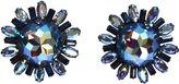 One Kings Lane Vintage Glittery Ice-Blue Vendome Earrings
