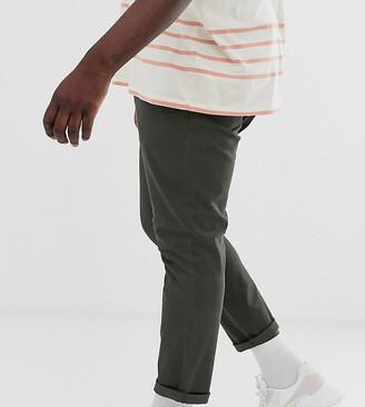 Asos Design DESIGN Plus skinny ankle grazer chinos in dark khaki