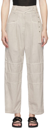 Low Classic Beige Garment-Dyed Trousers