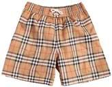 Burberry Check Printed Nylon Swim Shorts