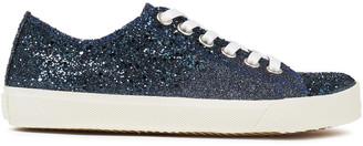Maison Margiela Glittered Denim Sneakers