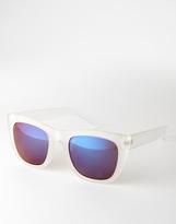 Aj Morgan Wayfarer Sunglasses - Clear
