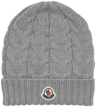 Moncler Wool Cable Knit Beanie