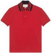 Gucci Cotton polo with appliqué - men - Cotton/Spandex/Elastane - S