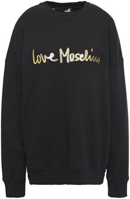 Love Moschino Logo-appliqued French Cotton-terry Sweatshirt