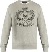 Alexander McQueen Crown skull-print cotton-jersey sweatshirt