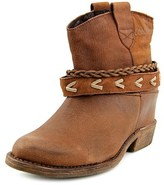 Coolway Caliope Women Round Toe Leather Brown Ankle Boot.