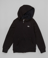 CB Sports Black Quilted Zip-Up Hoodie - Boys