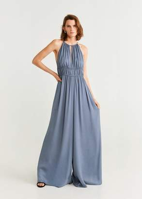 MANGO Halter long jumpsuit