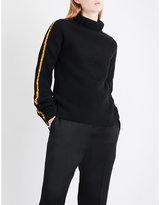 Haider Ackermann Satin-trim wool and cashmere-blend jumper
