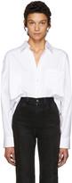 Vetements White Secretary Decollage Shirt