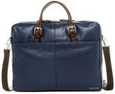Cole Haan Pebble Leather Zip Top Briefcase