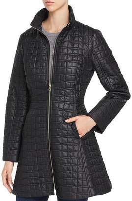 Kate Spade Fit-and-Flare Bow-Quilted Coat