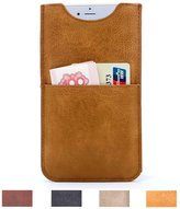 Card Case for iPhone 6 plus and iPhone 6S plus Executive Pouch Design Ultra Slim PU Leather Wallet Sleeve Case for 5.5 inch Phone XeYOU