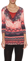 Fuzzi Printed 3/4 Sleeves Top