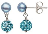 Honora Crystal & Freshwater Pearl Earrings (Girls)