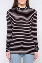 Jacqueline De Yong Stripe Mock Neck Top