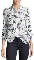 Equipment Leema Floral-Printed Silk Blouse