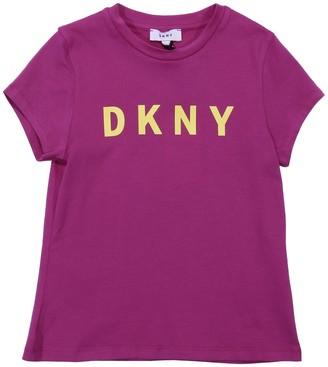 DKNY Fuchsia Cotton Jersey T-shirt