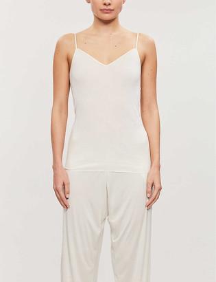 Hanro V-neck cotton-jersey top