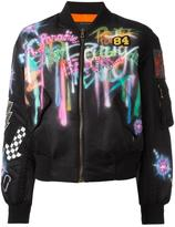 Marc Jacobs airbrushed shrunken bomber jacket - women - Nylon - M