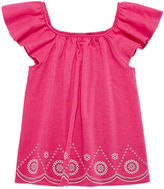 Arizona Square Neck Short Sleeve Blouse - Preschool Girls