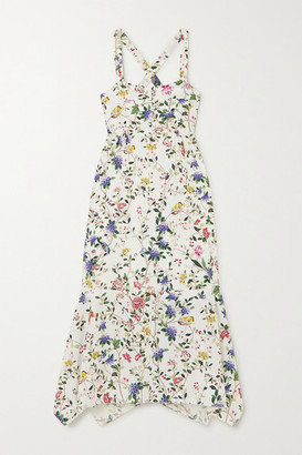 Erdem Oleanna Floral-print Cotton-poplin Midi Dress - White