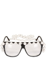 A-Morir - Eyeglasses With Pearl Chain Sunglasses