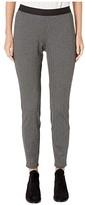 Eileen Fisher Recycled Polyester Herringbone Leggings (Charcoal) Women's Casual Pants