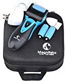 Magnifeko Rechargeable Electric Foot File and pedicure tools for Dry Cracked Dead Skin on your Heels and Feet. with 3 Rollers & Travel Storage Case