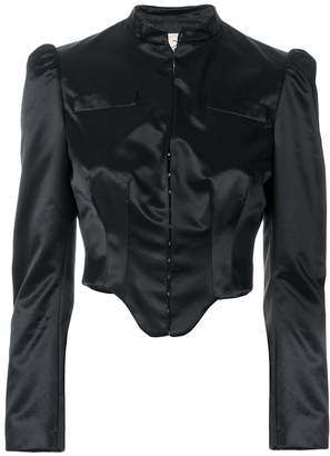 Romeo Gigli Pre-Owned structured cropped jacket