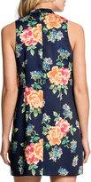 Cynthia Steffe Sleeveless Floral-Print Minidress