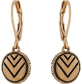 The Sak Etched Circle Drop Earrings