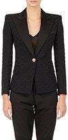 Balmain Women's Diamond-Pattern Jacquard Jacket-BLACK