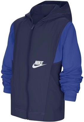 Nike Older Boys Woven Jacket - Navy