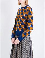 Dries Van Noten Tamara geometric wool jumper