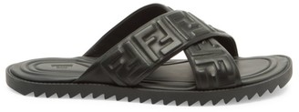 Fendi FF Nappa Leather Slides