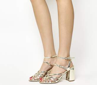 Office Hey Now Strappy Sandals Gold