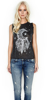 Lauren Moshi Riley Moon Dreamcatcher Sleeveless Muscle Tank