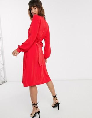 Closet London Closet high neck a-line dress