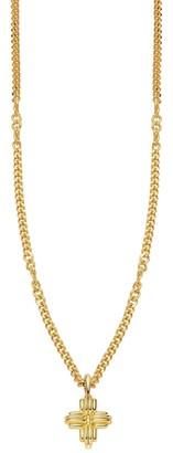 Missoma Lucy Williams Gold Mini Ridge Cross Necklace