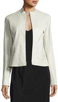 The Row Tripton Leather Zip Jacket, Cream