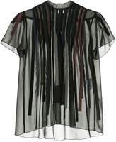Kolor appliqué striped blouse
