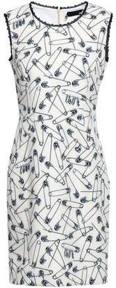 Love Moschino Lace-trimmed Printed Ponte Mini Dress