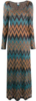 M Missoni Zig-Zag Embroidered Dress