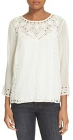 Joie Women's 'Gaiane' Eyelet Embroidered Top
